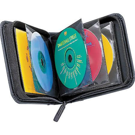 Case Logic® Koskin CD/DVD Wallet, 32 Capacity, Black