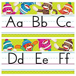 Trend Sock Monkeys Coll Alphabet Bulletin