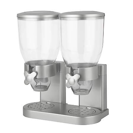 Zevro Indispensable Dispenser, Double, 35 Oz, Silver