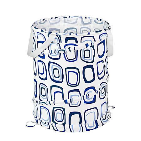 Honey-Can-Do Medium Pop-Open Hamper, Blue Print