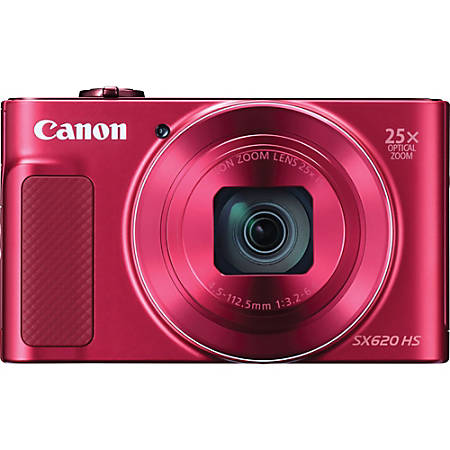 """Canon PowerShot SX620 HS 20.2 Megapixel Compact Camera - Red - 3"""" LCD - 25x Optical Zoom - 4x Digital Zoom - Optical (IS) - 5184 x 3888 Image - 1920 x 1080 Video - HD Movie Mode - Wireless LAN"""
