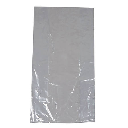 "TUF-R® LLDPE Bags, Gusset, 8""H x 4""W x 15""D, Clear, 100 Bags Per Pack, Carton Of 10 Packs"