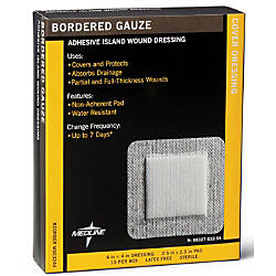 Medline Sterile Border Gauze Pads 4