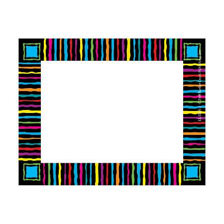 "Barker Creek Self-Adhesive Name Badge Labels, 3 1/2"" x 2 3/4"", Neon Stripes, Pack Of 45"