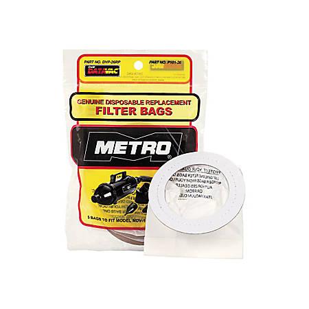 Metropolitan Vacuum® Data-Vac®/1 Pro Replacement Bags, Pack Of 5