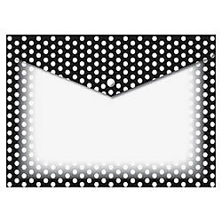 Ashley BW Dots Design Poly Folders