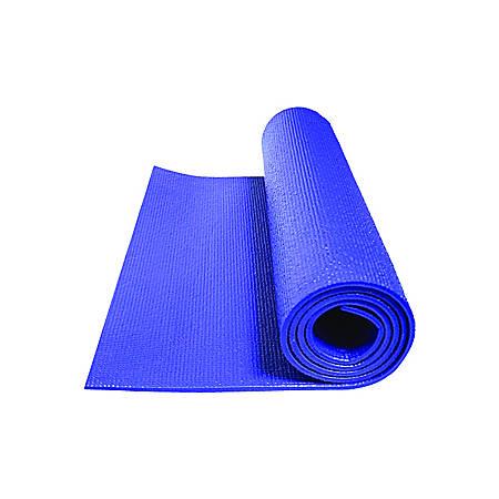 """GoFit Double-Thick Yoga Mat, 0.3""""H x 24""""W x 68""""Dm Sapphire Blue"""
