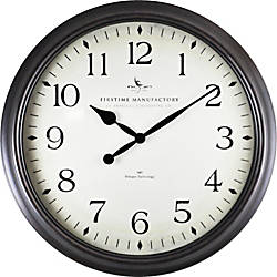 Firstime Avery Round Wall Clock 20 Blackoil Rubbed Bronze