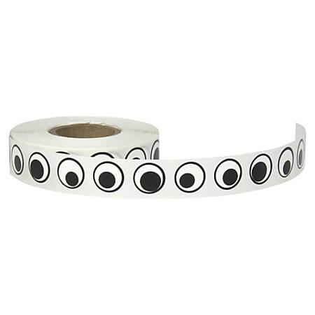"Creativity Street Wiggle Eyes Stickers - Fun, Learning Theme/Subject - 1000 Eye - Self-adhesive - Black/White - 1000 / Pack - 1/2"""
