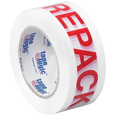 "Tape Logic® Pre-Printed Carton Sealing Tape, ""Repack"", 2"" x 110 Yd., Red/White, Case Of 36"