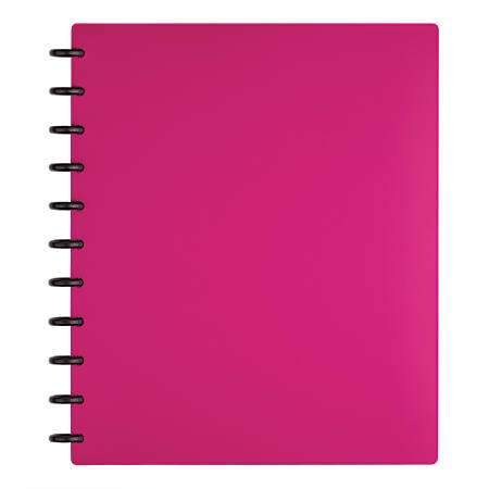 TUL™ Custom Note-Taking System Discbound Notebook, Letter Size, Poly Cover, Pink