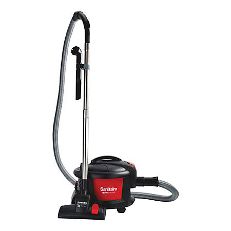 Sanitaire Quiet Clean® Bagless Canister Vacuum, Black/Red
