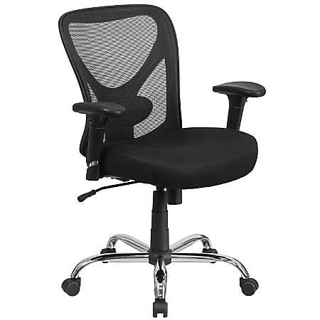 Flash Furniture HERCULES Mesh Mid-Back Task Chair, Black