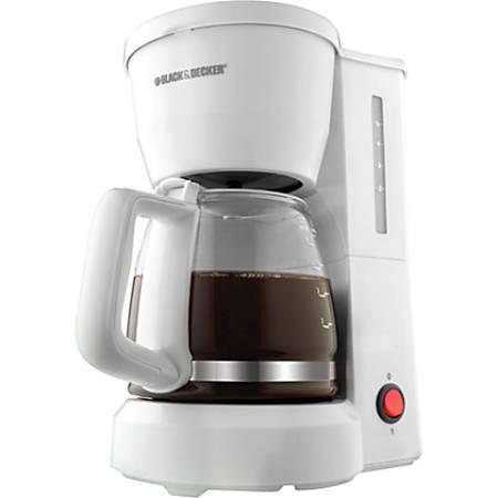 Black + Decker 5-Cup Switch Coffee Maker, White, DCM600W