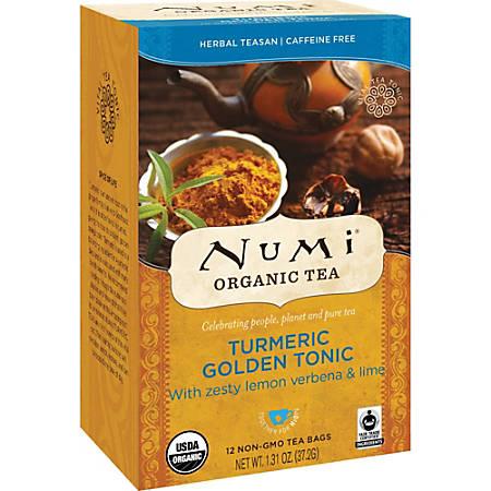 Numi Turmeric Organic Tea - Dried Lime, Turmeric, Verbena - 1.3 oz - Organic - 12 / Box