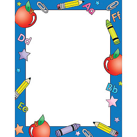 "Gartner™ Studios School/Children Design Paper, 8 1/2"" x 11"", School Days, Pack Of 100 Sheets"