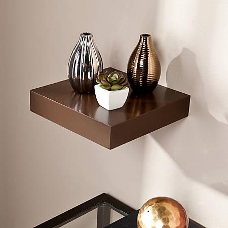 "Southern Enterprises Chicago Floating Shelf, 10""W, Chocolate"