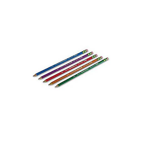 Ticonderoga® Pencils, #2 Soft Lead, Assorted Barrel Colors, Box Of 10