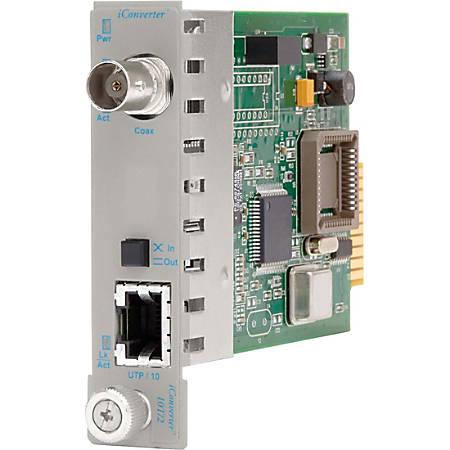 Omnitron Systems iConverter 8340-0 Ethernet Media Converter - 1 x RJ-45 , 1 x BNC - 10Base-T, 10Base-2