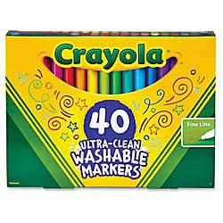 Crayola 40 Ultra Clean Fine Line
