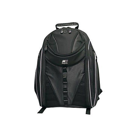 "Mobile Edge Express 15.6"" to 16"" Notebook & Tablet Backpack 2.0 - Notebook carrying backpack - 15.6"" - 16"" - black with silver trim"