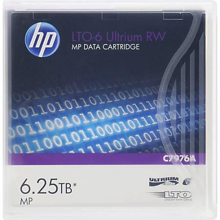 HP LTO-6 Ultrium RW Data Cartridge, 6.25 TB