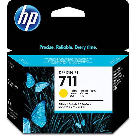 HP 711 Original Ink Cartridge - Multi-pack - Inkjet - Yellow - 3 / Pack