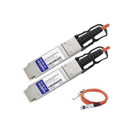 AddOn Cisco QSFP-H40G-AOC10M Compatible TAA Compliant 40GBase-AOC QSFP+ to QSFP+ Direct Attach Cable (850nm, MMF, 10m)