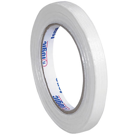"Tape Logic® 1300 Strapping Tape, 1/2"" x 60 Yd., Clear, Case Of 12"