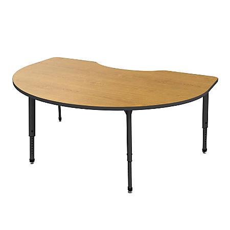 Marco Group Apex™ Series Adjustable Height Kidney Table, Solar Oak/Black