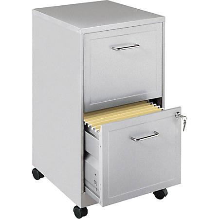 """Lorell® SOHO 18""""D 2-Drawer Mobile Letter-Size Vertical File Cabinet, Light Gray"""