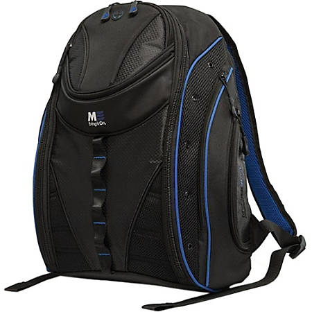 """Mobile Edge Express Carrying Case (Backpack) for 17"""" MacBook - Black, Royal Blue"""