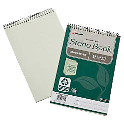 SKILCRAFT Steno Notebooks 6 x 10