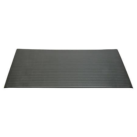SKILCRAFT® Antifatigue Mat, 2' x 3', Black (AbilityOne 7220-01-616-3623)