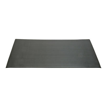 "SKILCRAFT® Vinyl Ribbed Anti-Fatigue Mat, 36"" x 60"", Black (AbilityOne 7220-01-616-3624)"