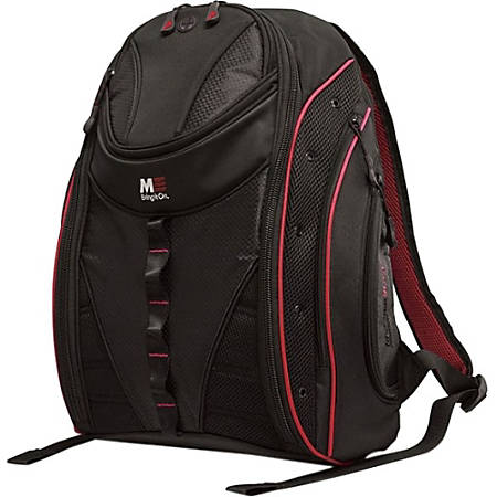 """Mobile Edge Express Carrying Case (Backpack) for 17"""" MacBook - Black, Red"""