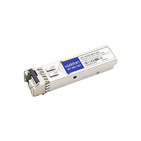 AddOn MSA and TAA Compliant 10GBase-BX SFP+ Transceiver (SMF, 1330nmTx/1270nmRx, 10km, LC, DOM)