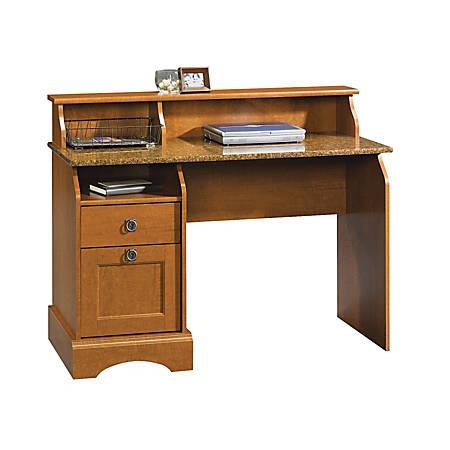 Sauder® Graham Hill Desk With Hutch,Autumn Maple