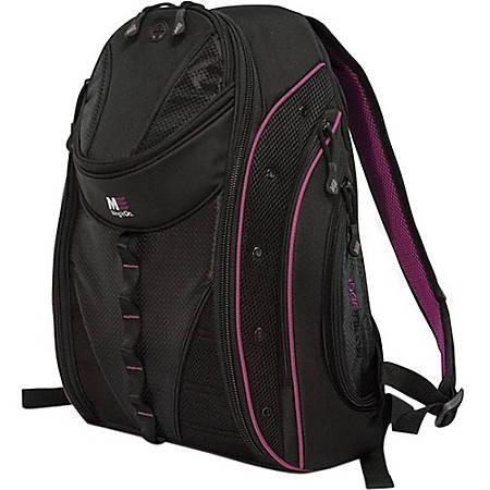 "Mobile Edge Express MEBPE82 Carrying Case (Backpack) for 17"" Notebook - Lavender - Poly Fur Interior - Shoulder Strap"