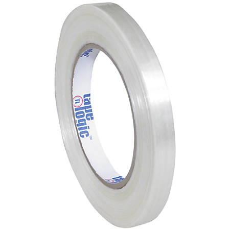"""Tape Logic® 1500 Strapping Tape, 1/2"""" x 60 Yd., Clear, Case Of 12"""