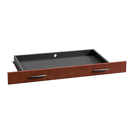 Sauder® Via Pencil Drawer For Desk, Classic Cherry/Soft Black