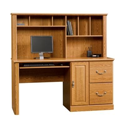 Swell Sauder Orchard Hills Computer Desk With Hutch 58 3 4 Carolina Oak Item 2271133 Download Free Architecture Designs Scobabritishbridgeorg