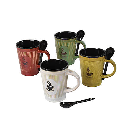 Orbit Ceramic Mug Set, 12 Oz, Set Of 4