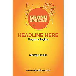 Adhesive Sign Grand Opening Vertical