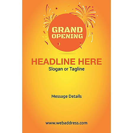 Adhesive Sign, Grand Opening, Vertical