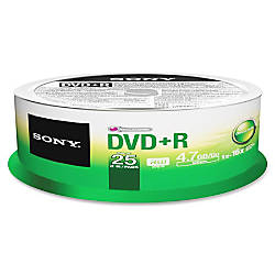 Sony DVD Recordable Media DVDR 16x