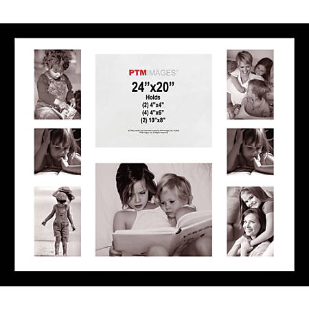 """PTM Images Photo Frame, Collage, 20""""H x 24""""W, Black"""