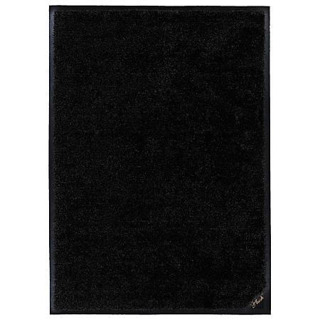 "M + A Matting Colorstar Plush Floor Mat, 48"" x 72"", Plush Black"