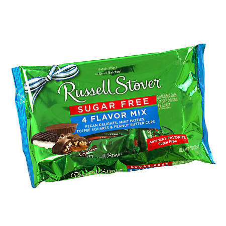 Russell Stover Sugar-Free Candy Mix, 4-Flavor, 10 Oz Bag, Pack Of 2 Bags