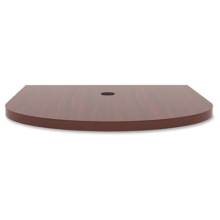 """Lorell® Prominence Conference Oval Table Top, 48""""W x 60""""L, Mahogany"""
